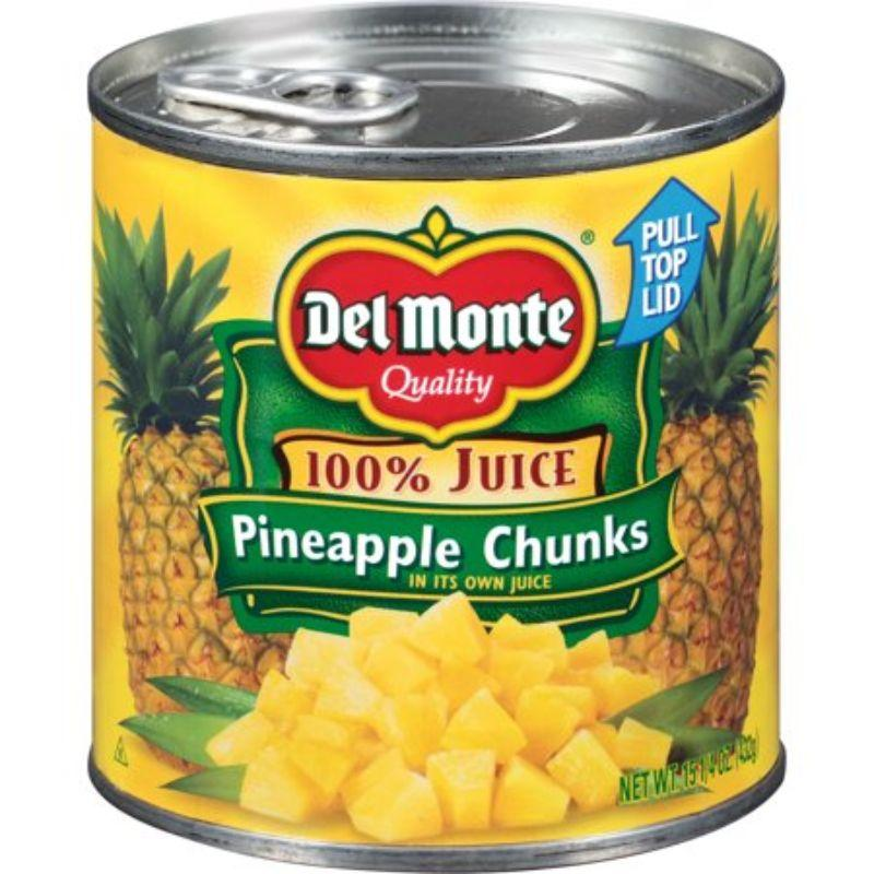 Del Monte Pineapple Chunks in its Own Juice, 435 g