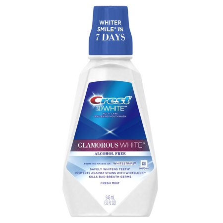 Crest 3D White Multi-Care Whitening Mouthwash, 32 oz 037000089872