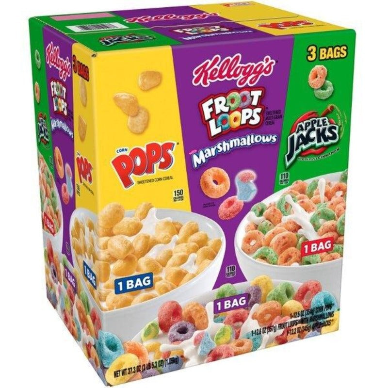 Kellogg's Tri Fun Variety Pack, 37.3 oz (BB:28-2-2021)