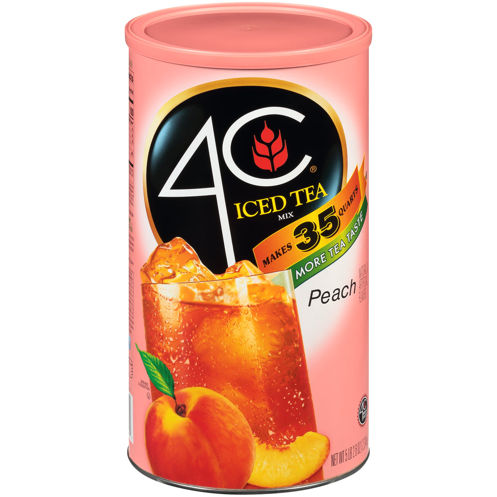 4C Iced Tea Mix Peach Flavor, 87.9 oz