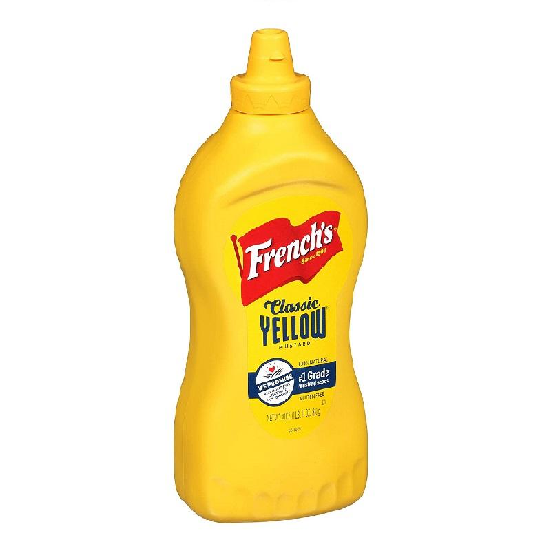 French's Gluten Free Yellow Mustard, 2x 30 oz