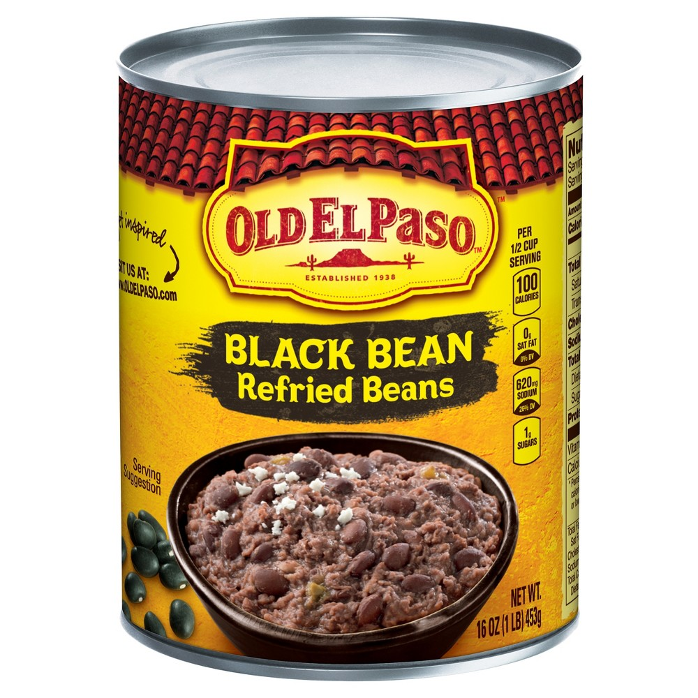 Old El Paso Black Bean Refried Beans, 16 oz