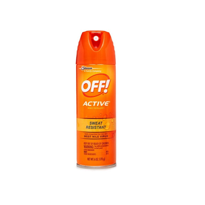 OFF! Active Insect Repellent Sweat Resistant, 6 oz
