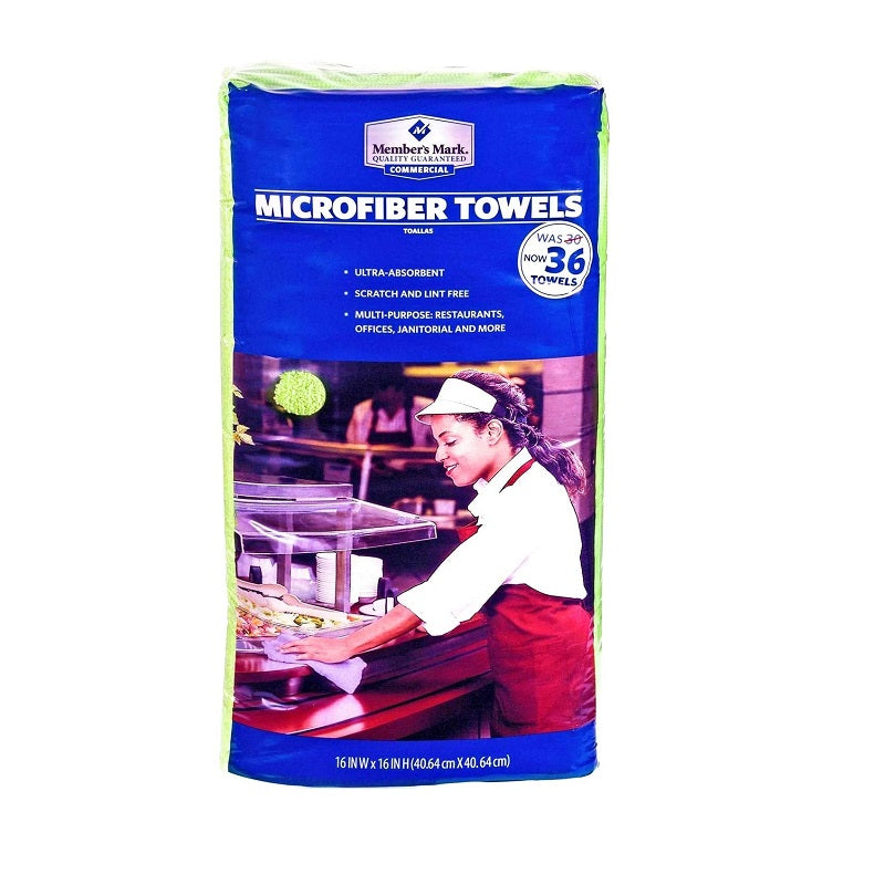 Member's Mark Microfiber Towels Green, 36 ct