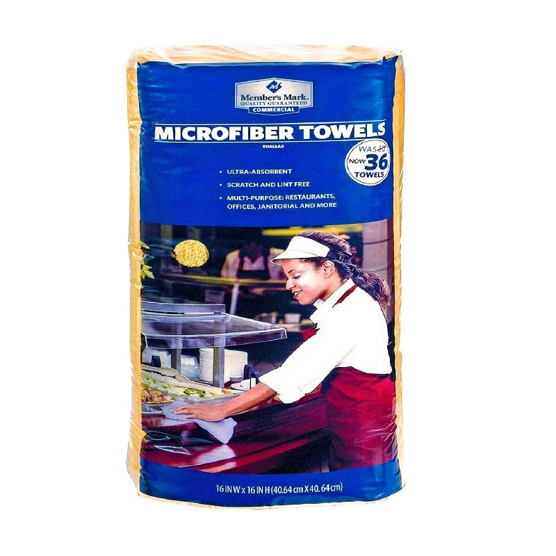 Member's Mark Microfibers Towels Yellow, 36 ct
