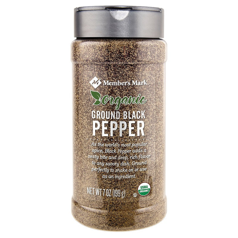 Member's Mark  Organic Ground Black Pepper, 7 oz