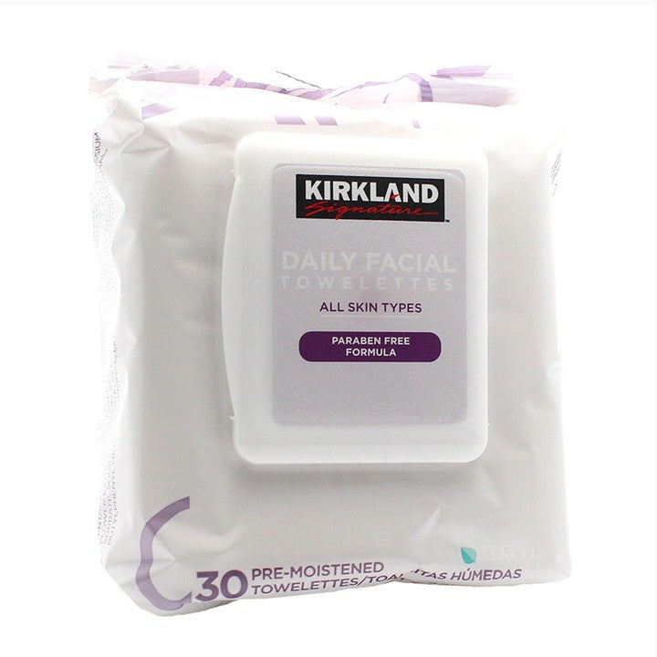 Kirkland Signature, Daily Facial Towelettes Wipes, 30 ct 096619301973