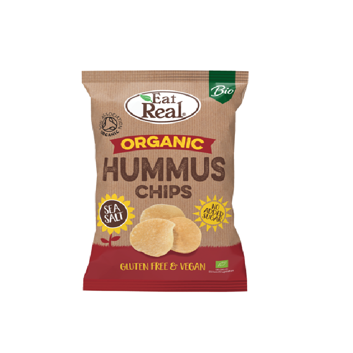 Eat Real Organic Vegan Hummus Sea Salt Chips, 100 g