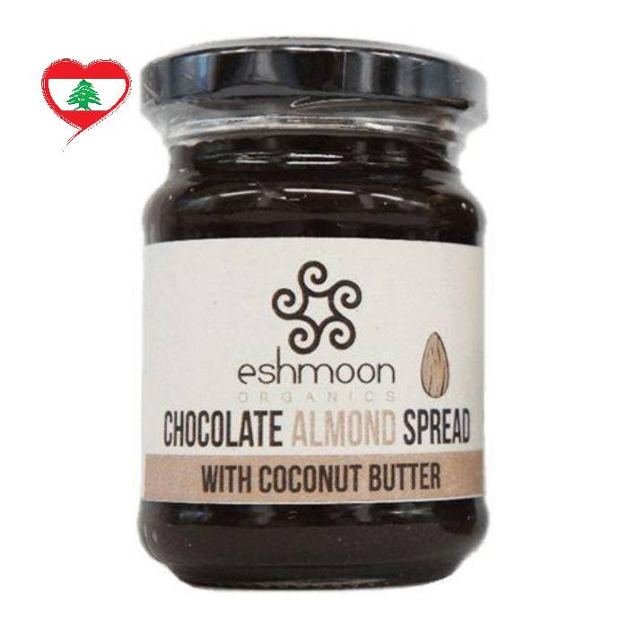 Eshmoon Organic Choco Almond Spread GF SF Vegan, 150 g