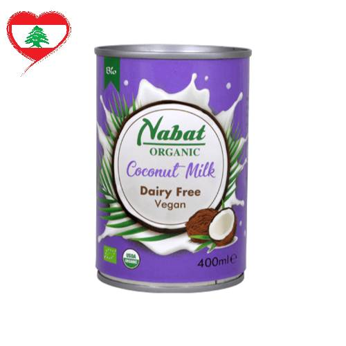 Nabat Organic Coconut Milk DF GF Vegan, 400 ml