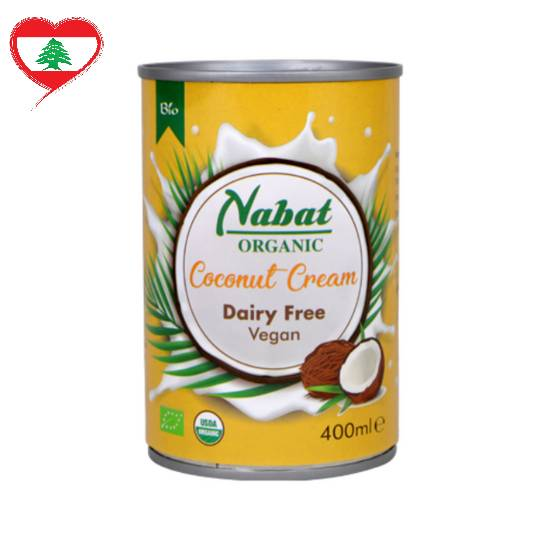 Nabat Organic Coconut Cream DF GF Vegan, 400 ml