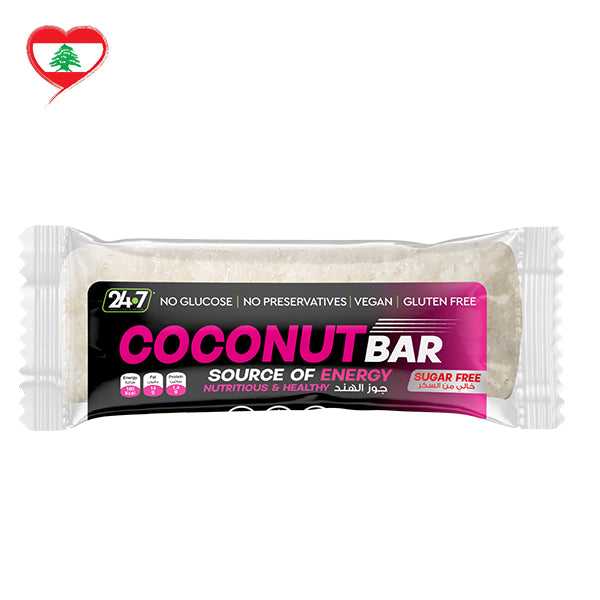 24/7 Snack Bars Tasty Coconut Vegan SF GF, 40 g