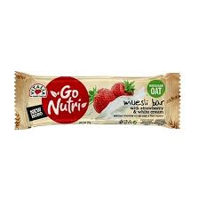 Go Nutri Muesli Bar w Strawberry/Cream, 25 g