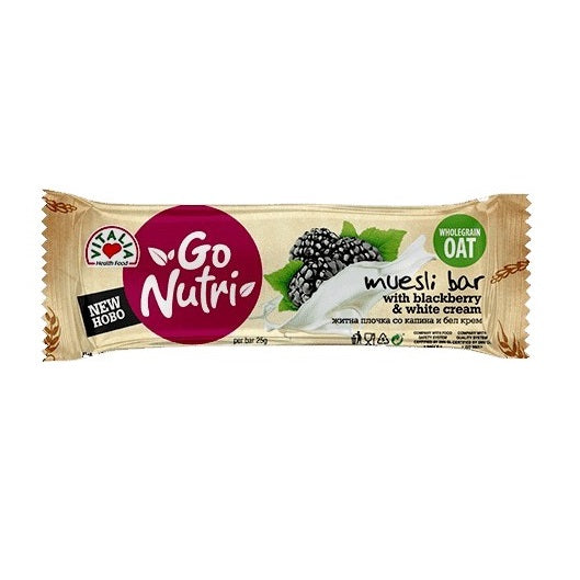 Go Nutri Muesli Bar w Blackberry/Cream, 25 g