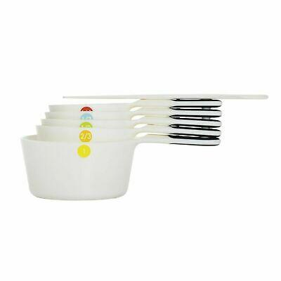 oxo 6 pc plastic measuring cups - snaps - white