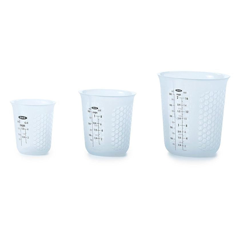 oxo squeee & pour silicone measuring cup set-mini ,1 pc