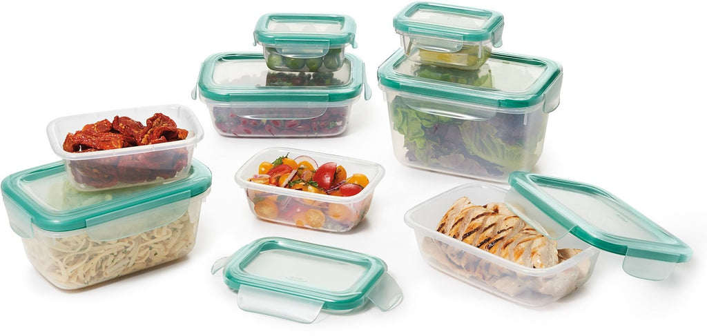 oxo snap plastic container set, 28 pcs