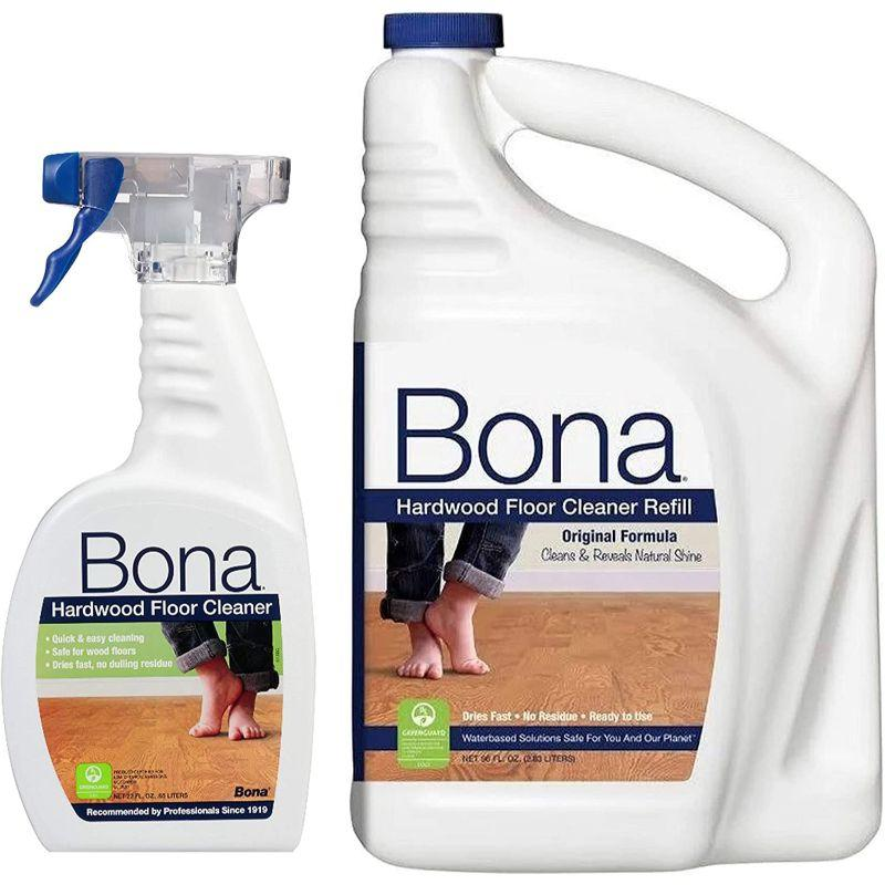 Bona Hardwood Floor Cleaner, 3.79 L +Spray,737025010898