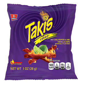 Takis Fuego Hot Chilli And Lemon, 28 g