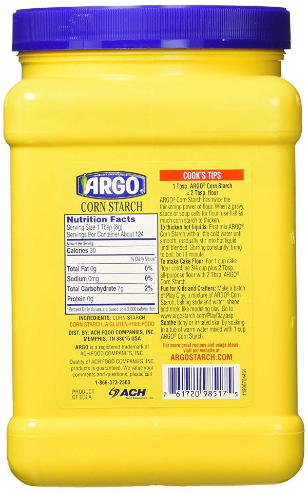 Argo Corn Starch Gluten Free, 35 oz
