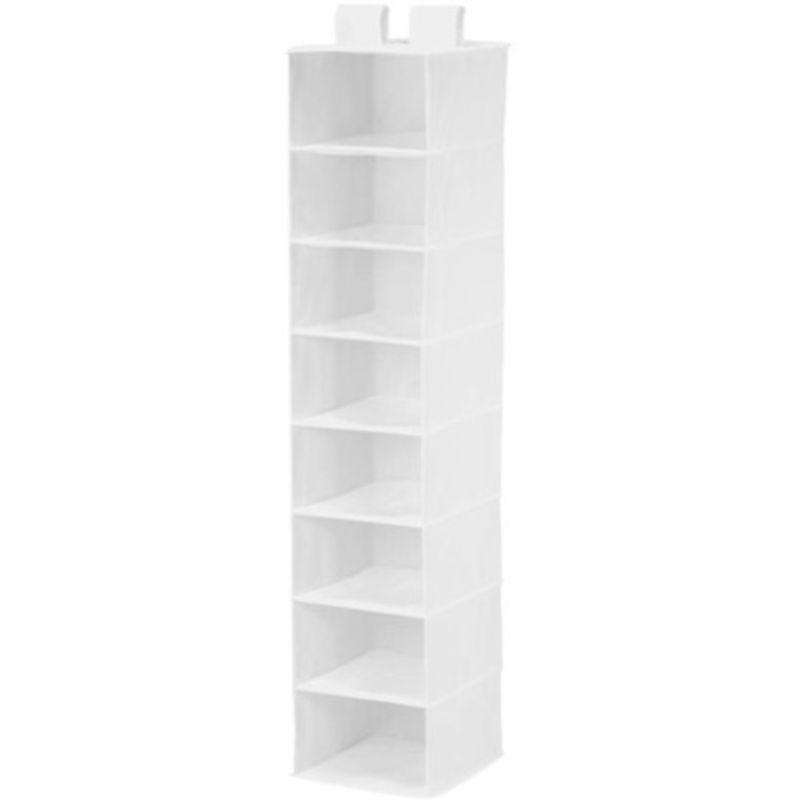 Honey Can Do 8-shelf Hanging Organizer, White,811434012398