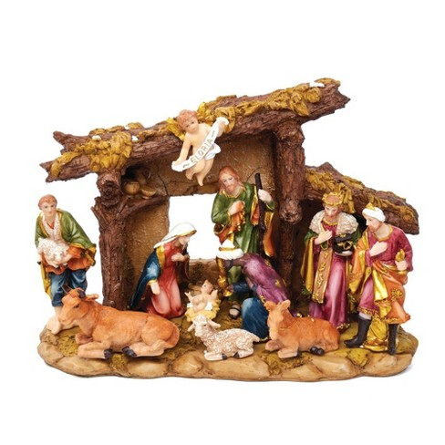 TableTop Nativity Set, 11 Pcs