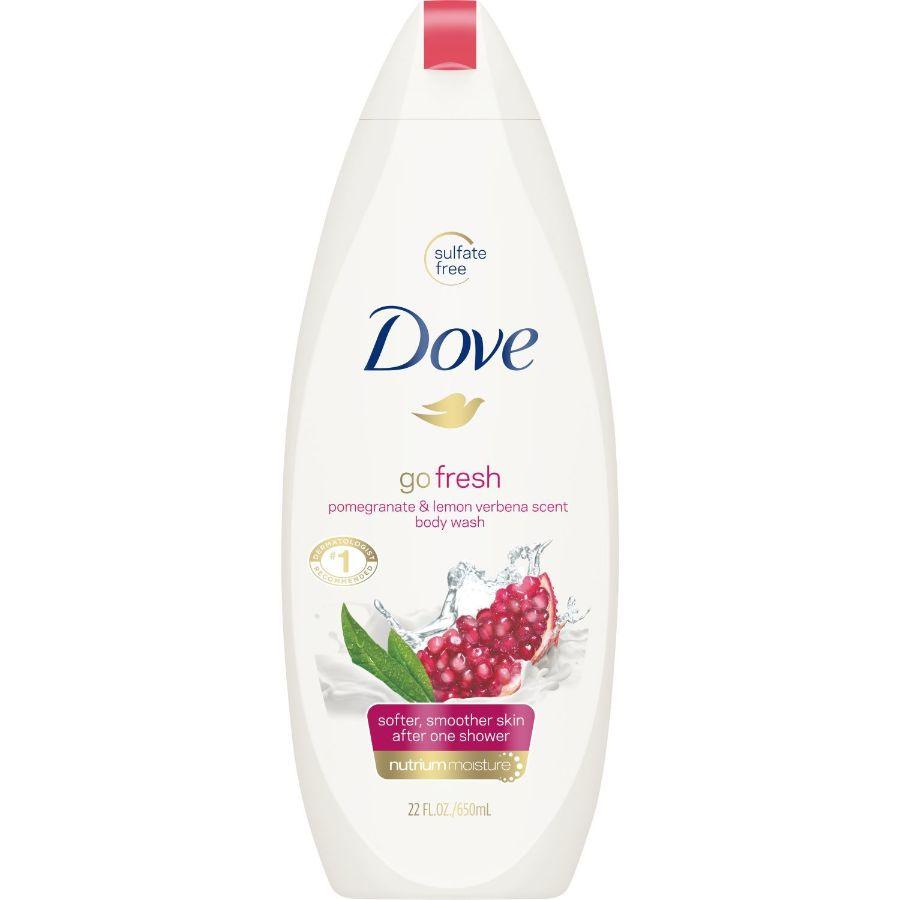 Dove Body Wash Go Fresh Pomegrante, 24 oz
