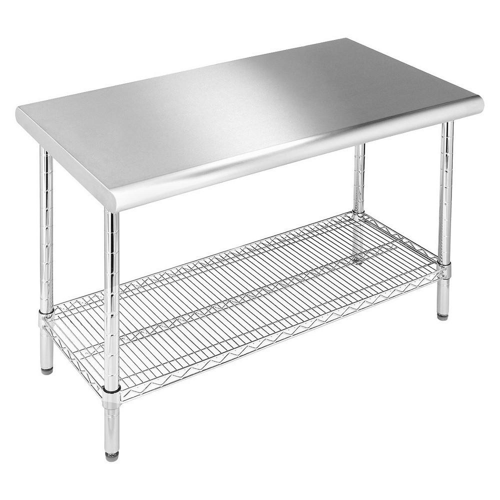 Seville Classics Stainless Steel Work Table Top 24x49x35