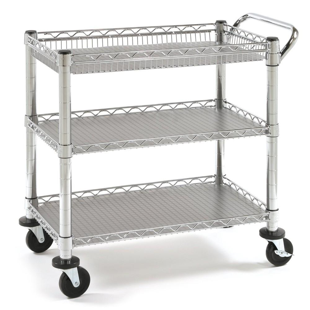 Seville Classics, 3-Shelf Commercial Ultility Cart HD