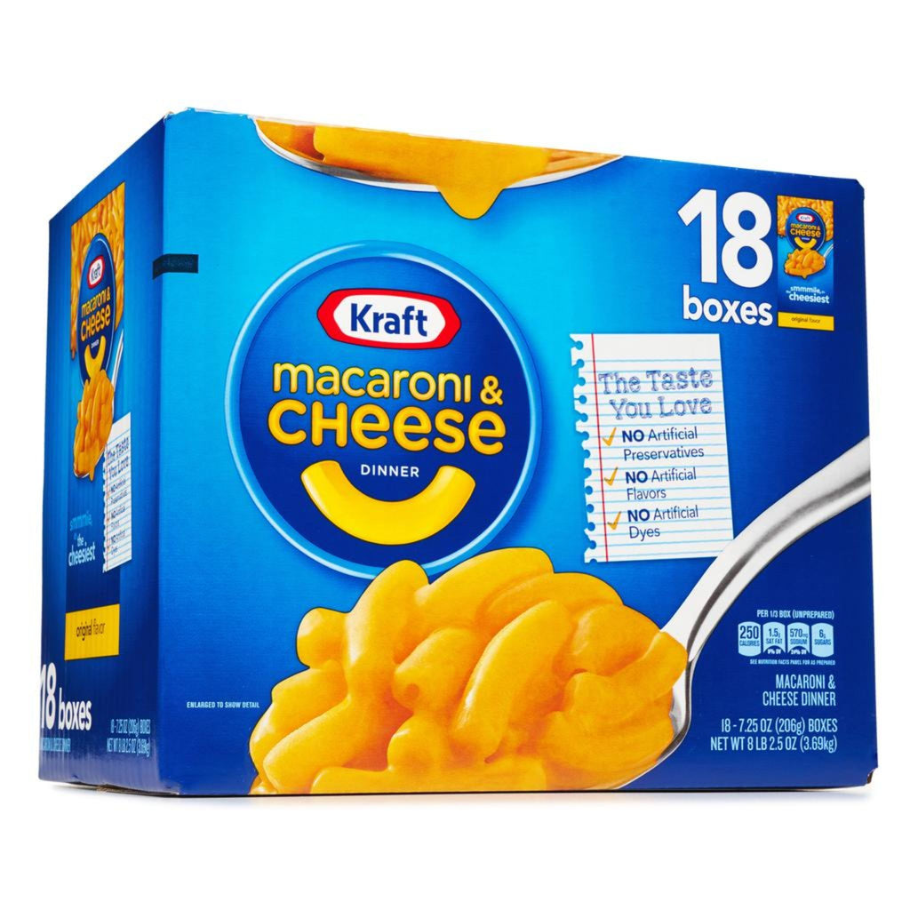 Kraft Mac & Cheese, 18x 7.25 oz