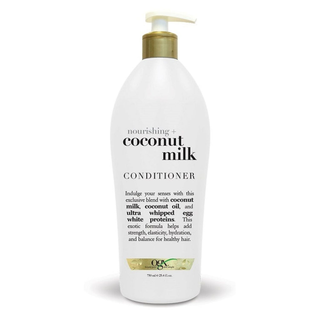 OGX, Nourishing Coconut Milk Conditioner with Pump, 25.4 oz