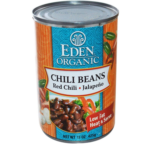 Eden Organic, Chili Beans with Jalapeno & Red Chili, 15 oz