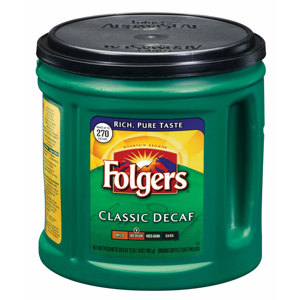 Folgers, Classic Decaf Medium Roast, 33.9 oz
