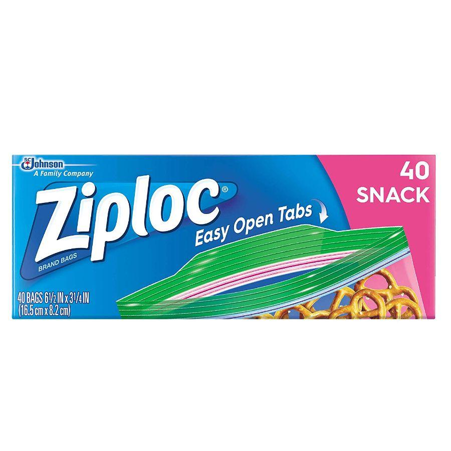 Ziploc Snack Bag, 40 ct
