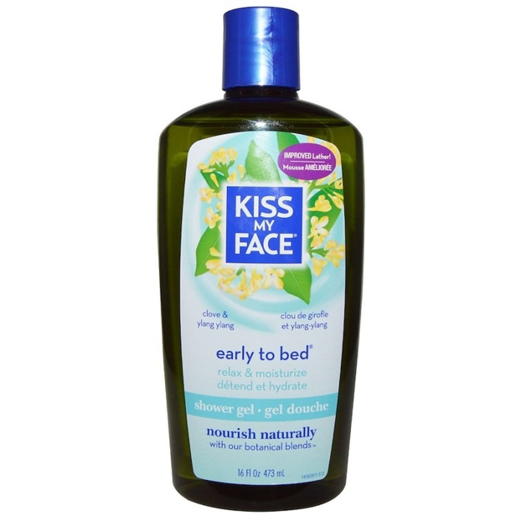 Kiss My Face, Early to Bed, Shower Gel, Clove & Ylang Ylang, 16 oz