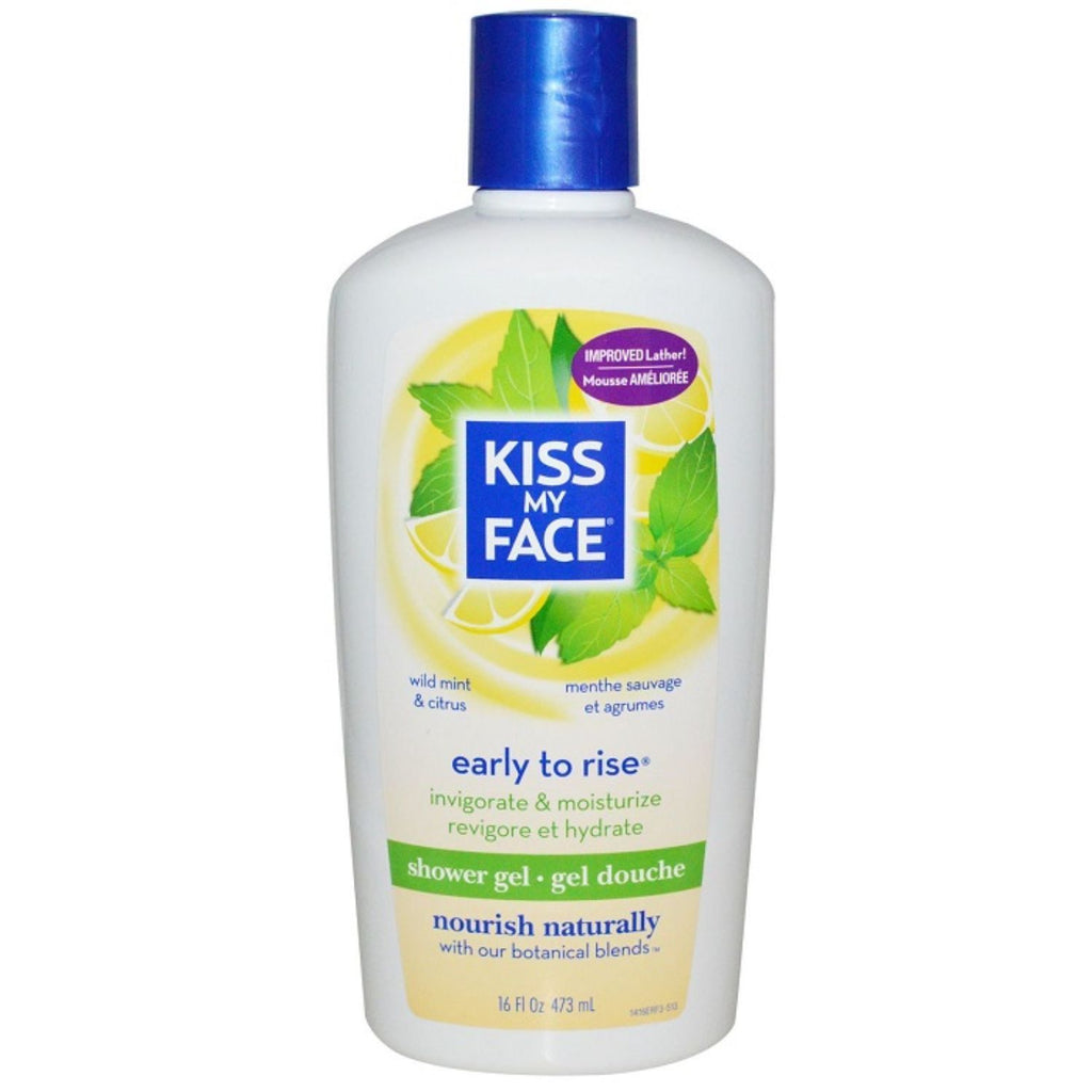 Kiss My Face, Early to Rise, Shower Gel, Wild Mint & Citrus, 16 oz
