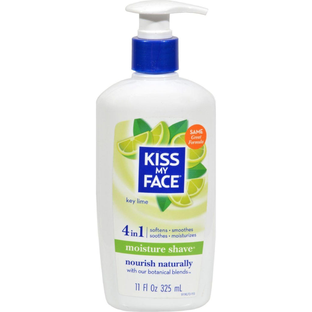 Kiss My Face, 4-in-1 Moisture Shave, Key Lime, 11 oz