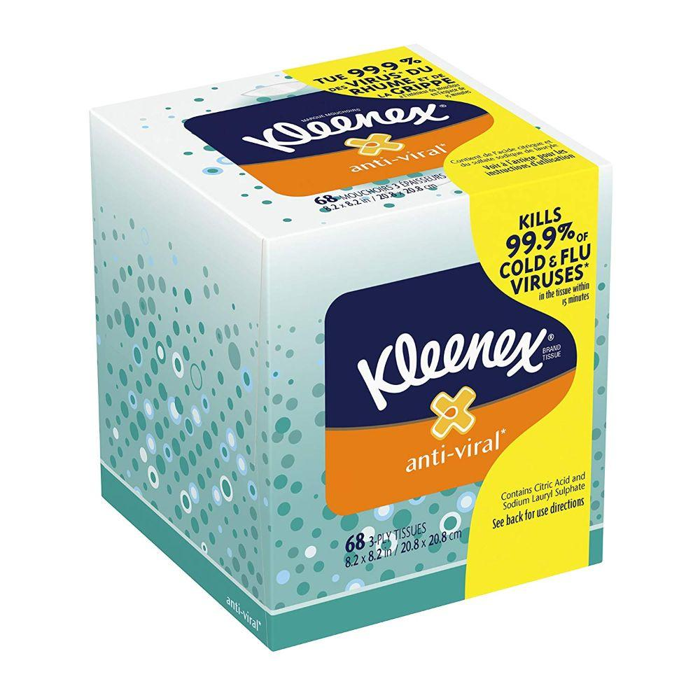 Kleenex Anti-Viral Facial 68 Tissues, 10 Pk