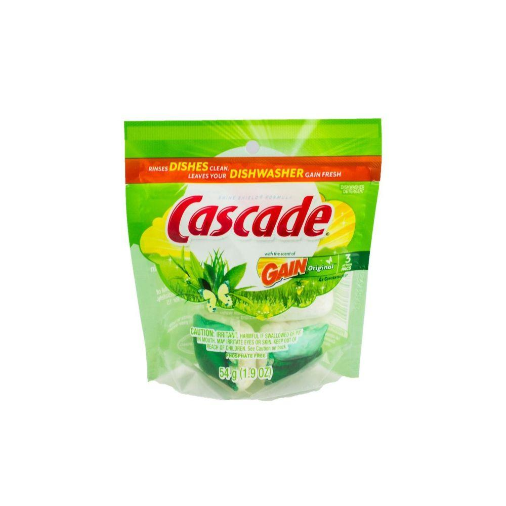 Cascade, Gain Original Dishwashinger Pacs, 1.9 oz