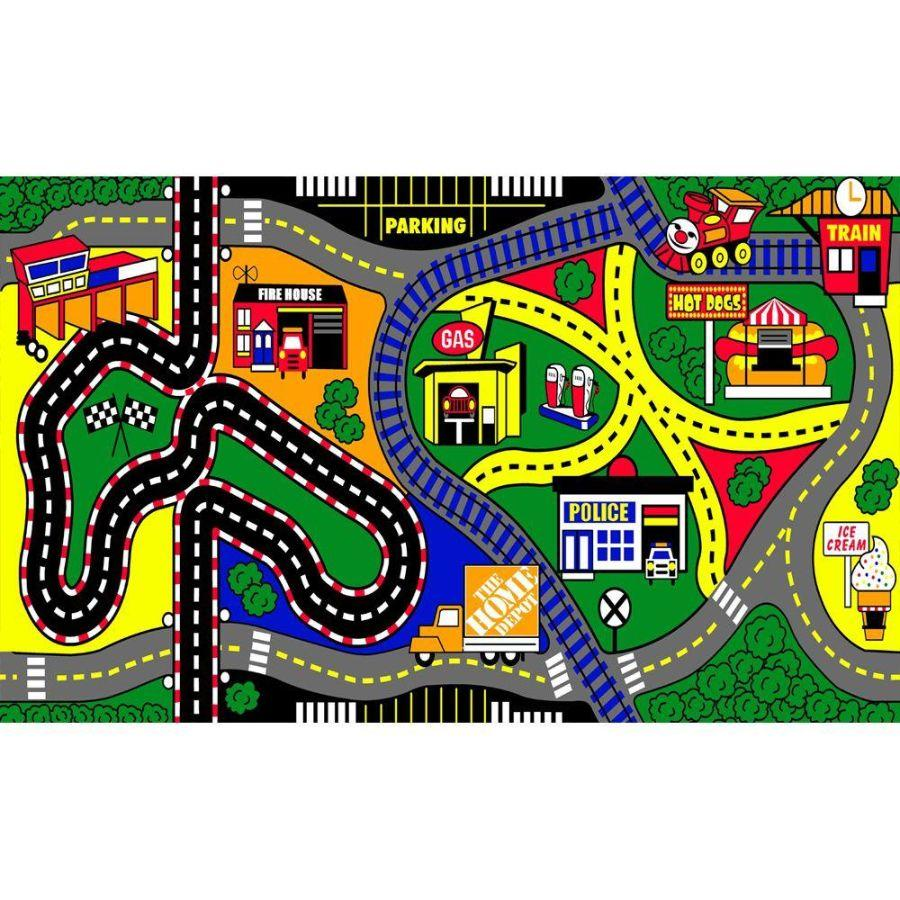 Natco My Town 3 Ft. X 5 Ft. Kids Play Mat