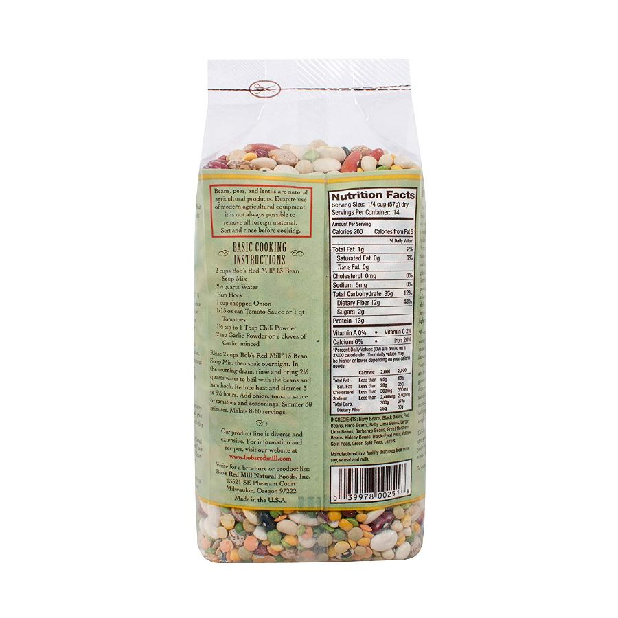 Bob's Red Mill 13 Bean Soup Mix, 29 oz