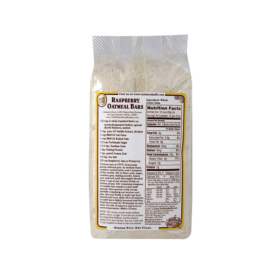 Bob's Red Mill Gluten Free Whole Grain Oat Flour, 22 oz