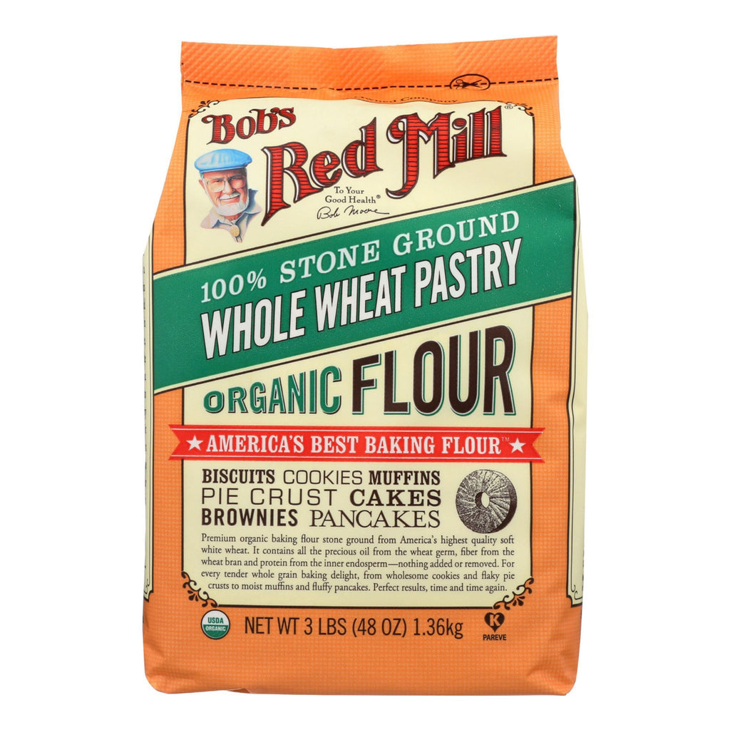 Bob's Red Mill, Organic Whole Wheat Pastry Flour, 48 oz