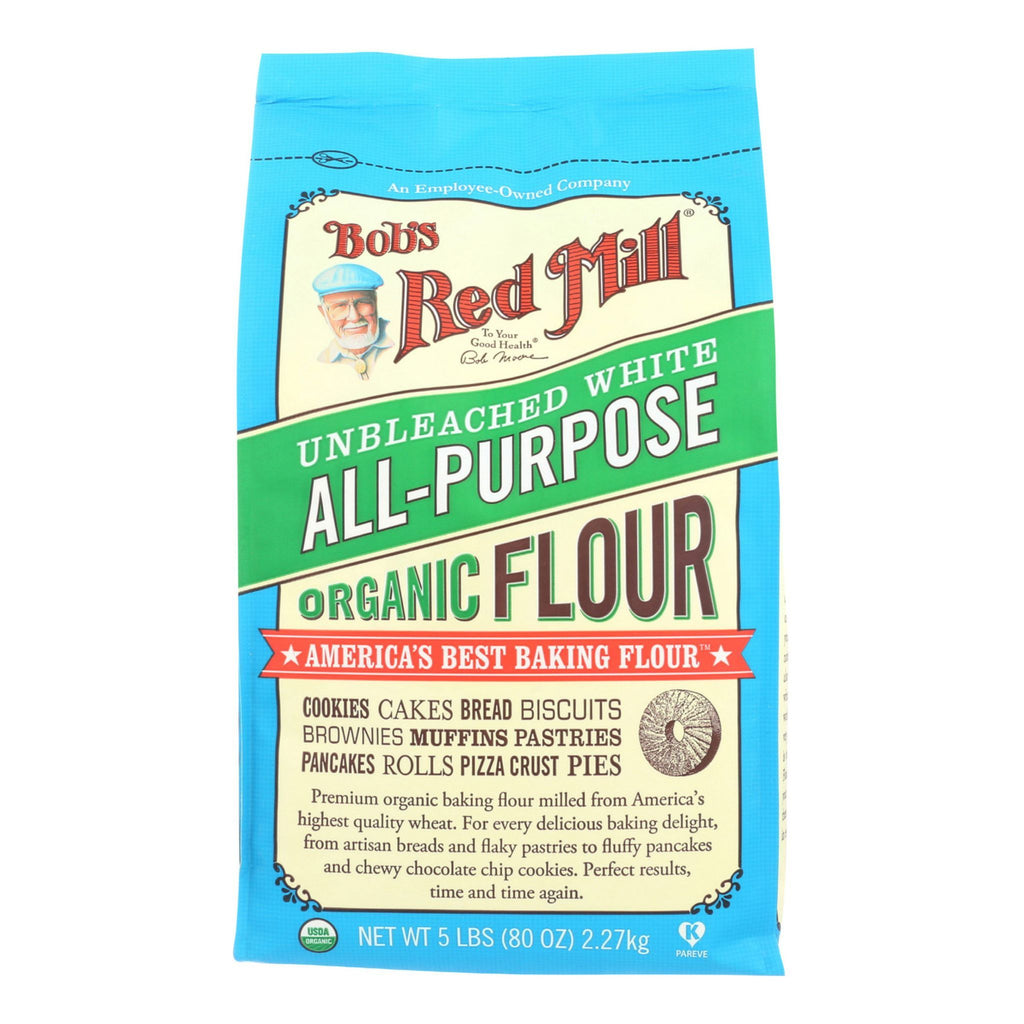 Bob's Red Mill Organic Unbleached All-Purpose White Flour, 5 lb