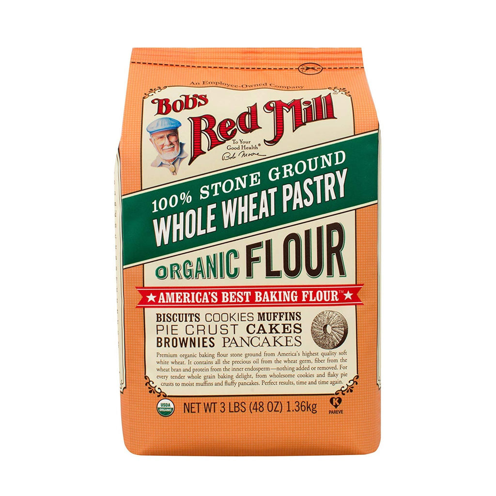 Bob's Red Mill, Organic Pastry Whole Wheat Flour, 5 lb
