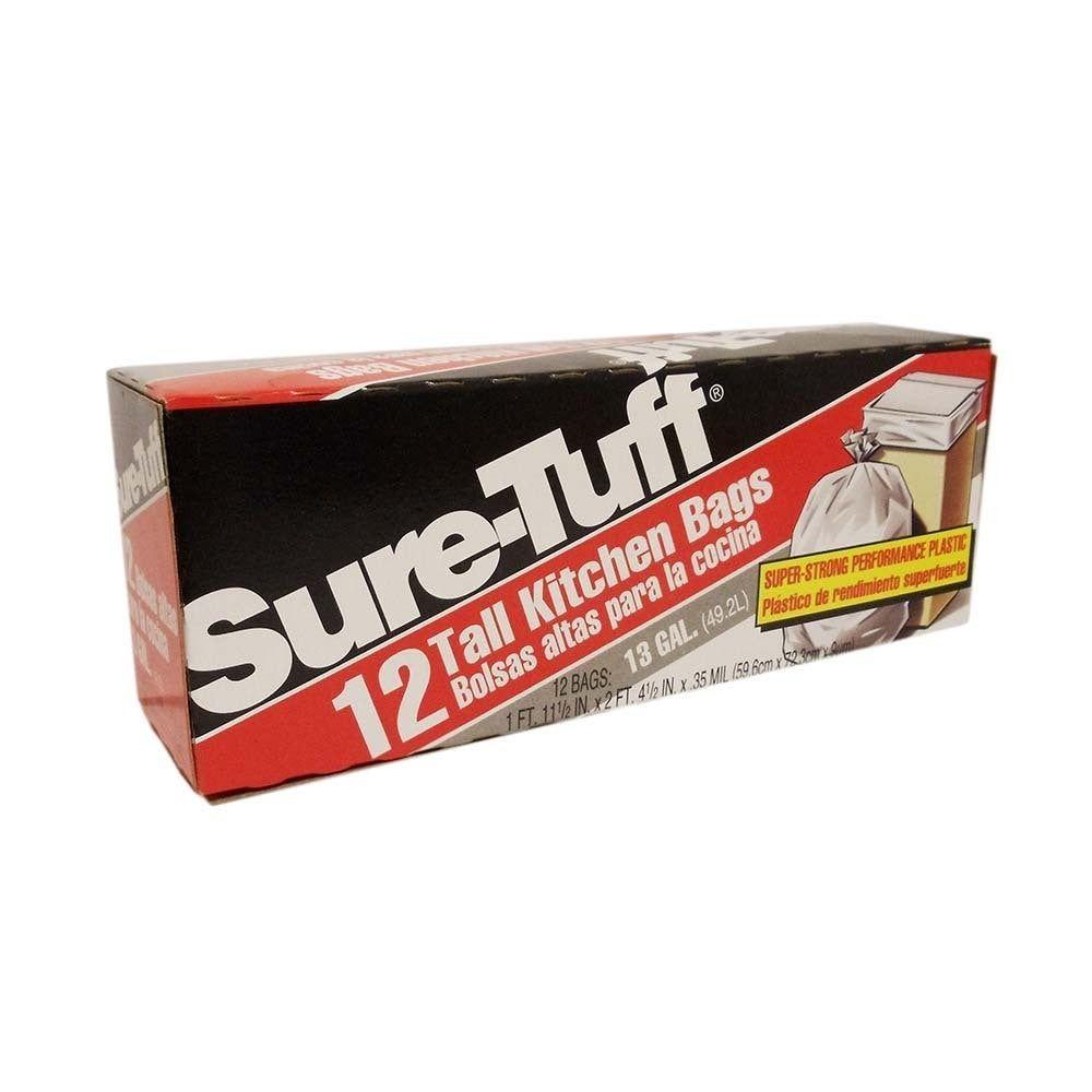 Sure-Tuff, Tall Kitchen Bag 13 gal, 12 ct