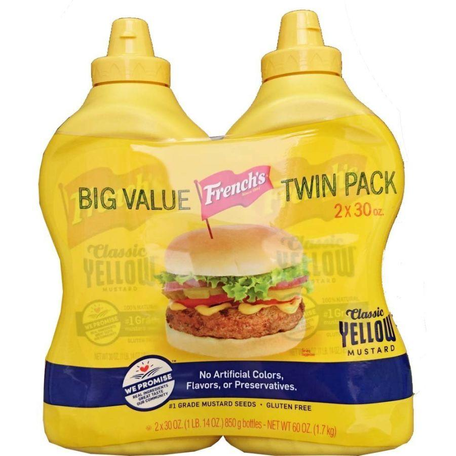 French's Gluten-Free Yellow Mustard, 30 oz