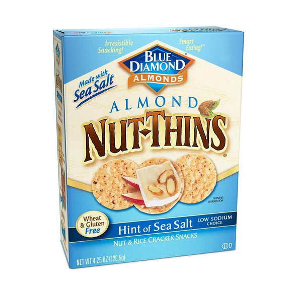 Blue Diamond Almond Gluten Free Nut-Thins Sea Salt, 4.25 oz