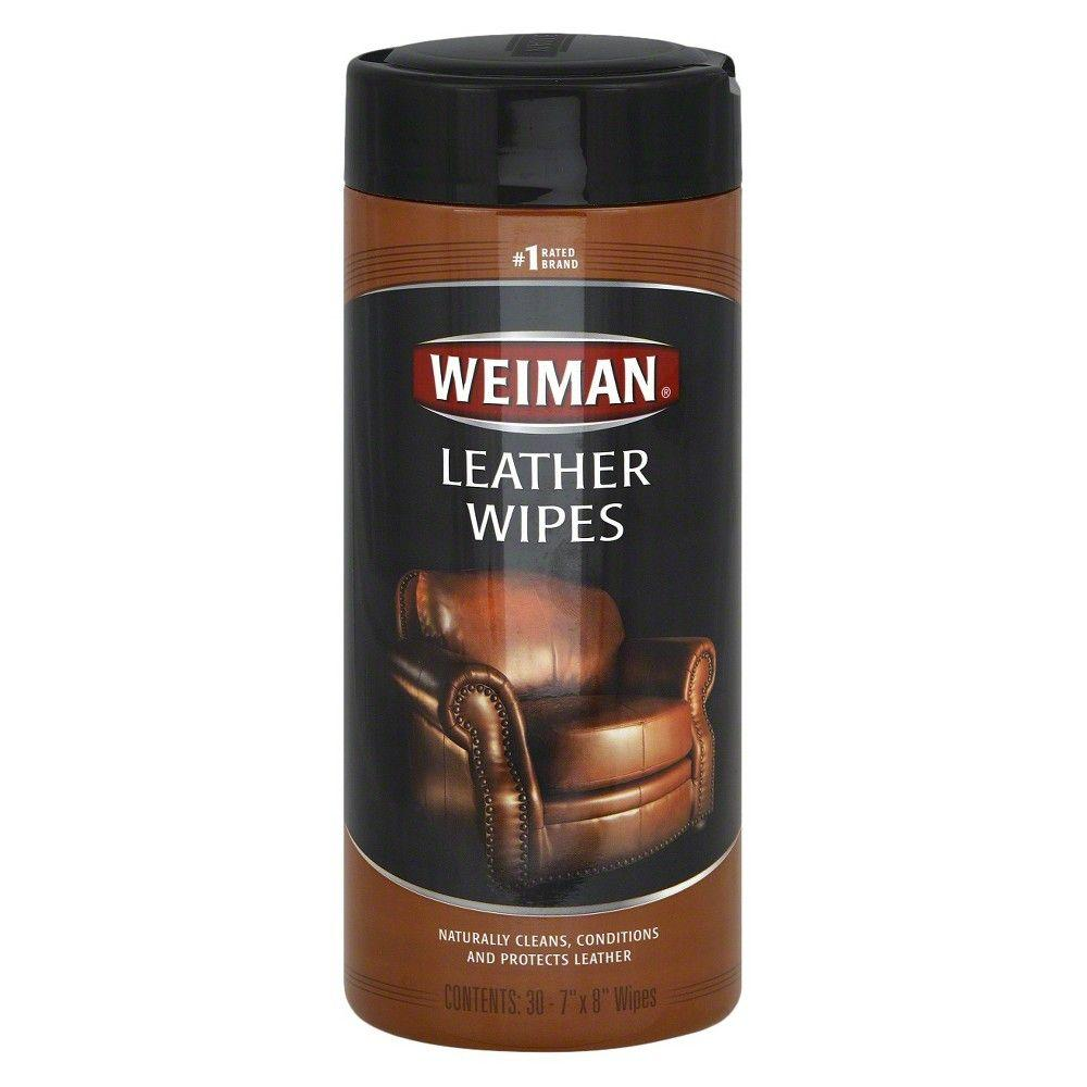 Weiman, Leather Wipes, 30 Ct
