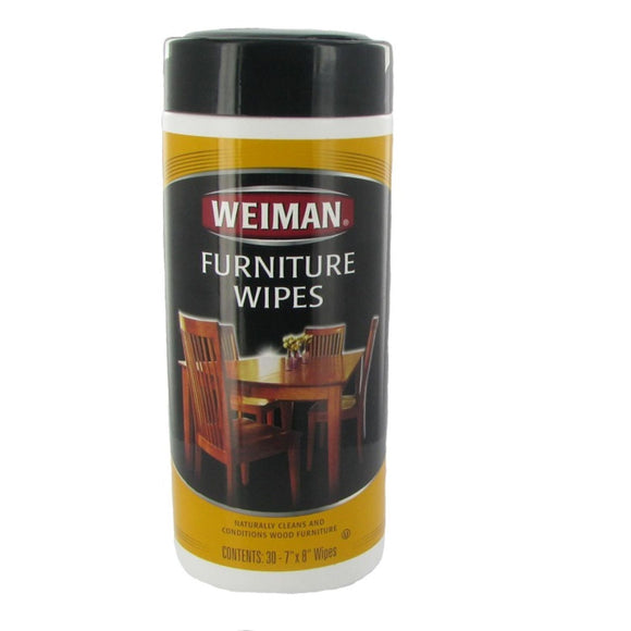 Weiman, Furniture Wipes, 30 Ct